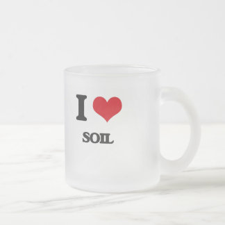 I love Soil Frosted Glass Mug