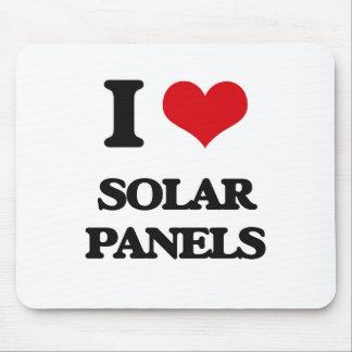 I Love Solar Panels Mouse Pad