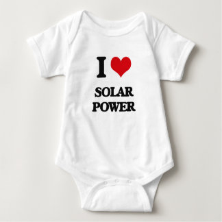 I love Solar Power Baby Bodysuit