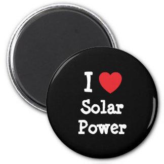 I love Solar Power heart custom personalized Magnet