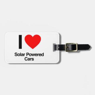 i love solar powered cars luggage tags