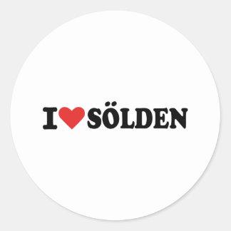 I love Sölden Classic Round Sticker