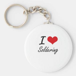 I love Soldering Basic Round Button Keychain