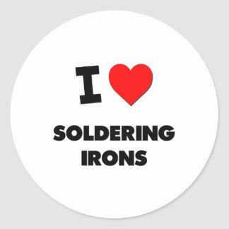 I love Soldering Irons Classic Round Sticker