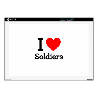 I Love Soldiers Decals For Laptops