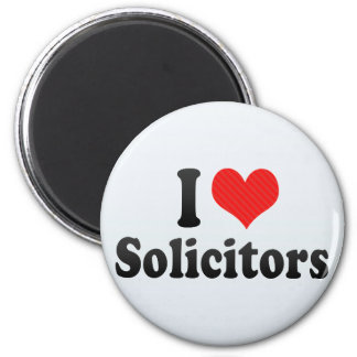 I Love Solicitors Fridge Magnet