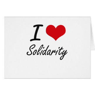 I love Solidarity Stationery Note Card