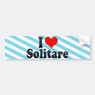 I Love Solitare Bumper Sticker
