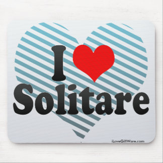 I Love Solitare Mouse Pads