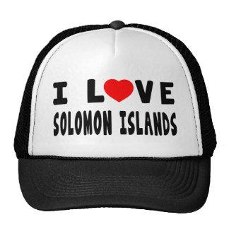 I Love Solomon Islands Hats