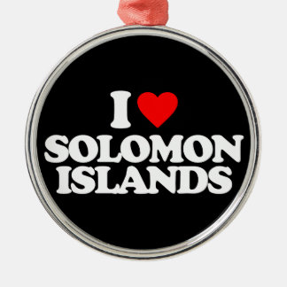 I LOVE SOLOMON ISLANDS CHRISTMAS TREE ORNAMENTS