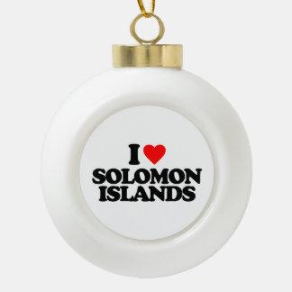 I LOVE SOLOMON ISLANDS ORNAMENTS