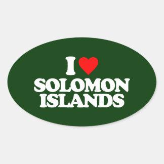 I LOVE SOLOMON ISLANDS OVAL STICKER