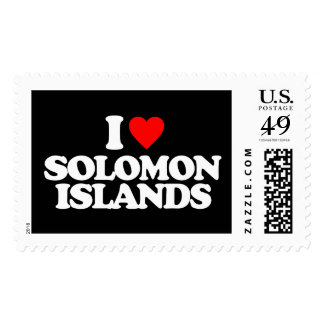 I LOVE SOLOMON ISLANDS POSTAGE STAMP