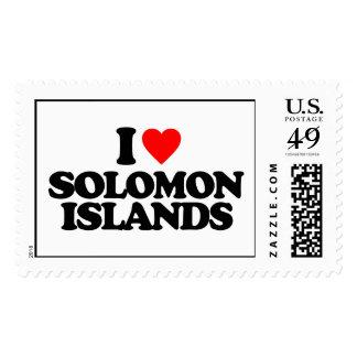 I LOVE SOLOMON ISLANDS STAMP