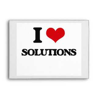 I love Solutions Envelope
