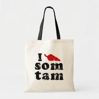 I Love Som Tam ❤ Thai Isaan Food Tote Bag