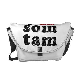 I Love Som Tam ❤ Thai Isan Lao Food Messenger Bag