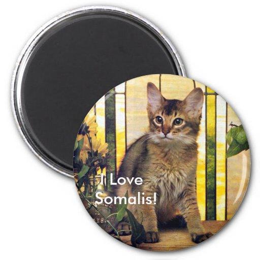I love Somali Cats Magnets