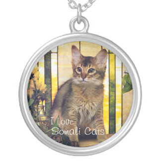 I love Somali Cats Silver Plated Necklace