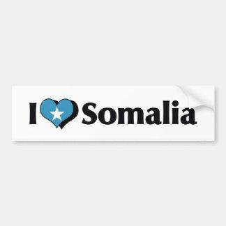 I Love Somalia Flag Bumper Sticker