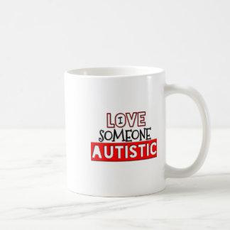 I Love Someone Autistic Classic White Coffee Mug