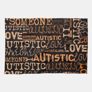 I Love Someone Autistic Towel