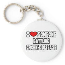 I Love Someone Battling Crohn's Disease Keychain