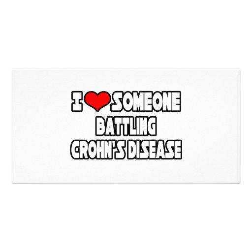 I Love Someone Battling Crohn's Disease Photo Card