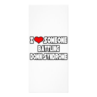 I Love Someone Battling Down Syndrome Rack Card Design