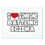I Love Someone Battling Eczema 4.25x5.5 Paper Invitation Card