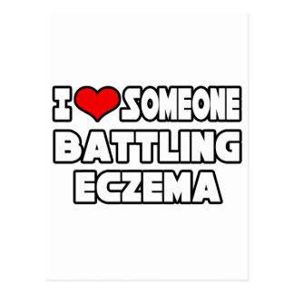 I Love Someone Battling Eczema Postcard