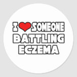 I Love Someone Battling Eczema Classic Round Sticker