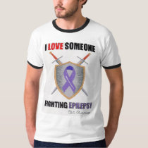 I LOVE Someone Fighting Epilepsy T-Shirt