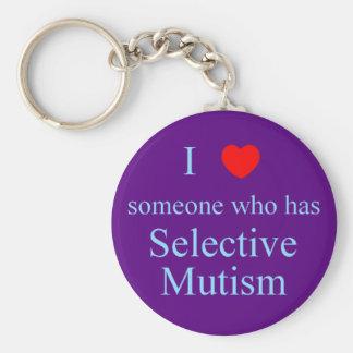 I Love Someone Selective Mutism Key Chain
