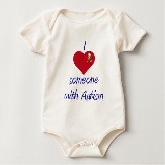 I love someone w Autism Baby Bodysuit