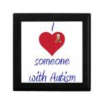 I love someone w Autism Keepsake Box