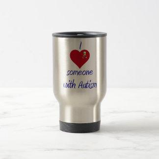 I love someone w Autism Travel Mug
