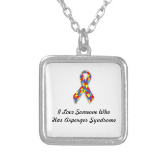 I Love Someone Who Has Asperger Syndrome Silver Plated Necklace