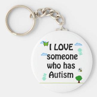 I love someone who has Autism Keychain