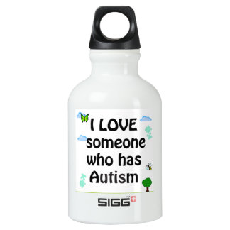 I love someone who has autism SIGG traveler 0.3L water bottle