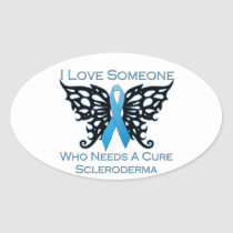 I love Someone Who Needs A Cure from Scleroderma Oval Sticker