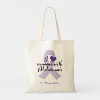 I Love Someone with Alzheimers Tote Bag