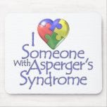 I Love Someone With Asperger's Mouse Pad