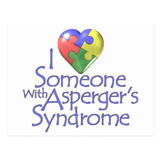 I Love Someone With Asperger's Postcard