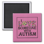 """""""I Love Someone With Autism"""" 2 Inch Square Magnet"""