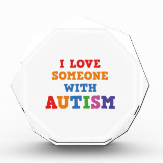 I Love Someone With Autism Acrylic Award