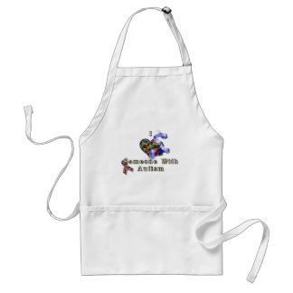 I love someone with autism adult apron
