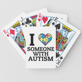 I LOVE SOMEONE WITH AUTISM BICYCLE PLAYING CARDS