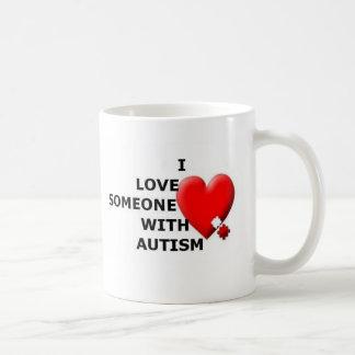 I Love Someone With Autism Classic White Coffee Mug